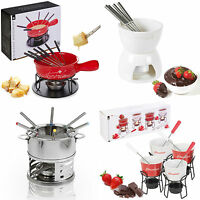 2 4 6 Person Party Chocolate Cheese Ceramic Fondue Pot Set Stainless Steel Fork