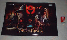 LORD OF THE RINGS pinball  backglass new POSTER PRINT LARGE others available! !!