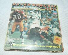 Super Bowl VII 1973 Dolphins Redskins 8mm Reel to Reel Film Complete in Box CIB
