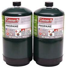COLEMAN 2 Pk Propane Fuel Bottle Cylinder 16 oz Camping Stove Gas Prop Tank 16.4