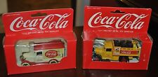 PAIR OF RARE COKE COCA COLA DIE CAST DELIVERY TRUCKS DATED 1967 & 1979 ENGLAND