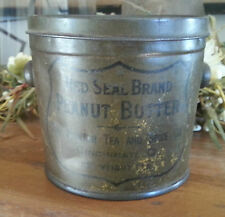 Old Advertising Tin Red Seal Brand Peanut Butter Newton Tea Spice Cincinnati OH