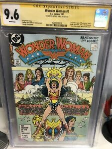 Wonder Woman #1 (1987, DC) Premiere Issue, CGC 9.6 Signed by George Perez