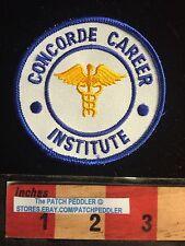 College Medical Patch ~ Concorde Career Institute Rod of Caduceus Snake 61C2 ex