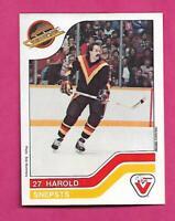 RARE 1983-84 CANUCKS HAROLD SNEPSTS  VACHON FOOD  CARD (INV# C5531)