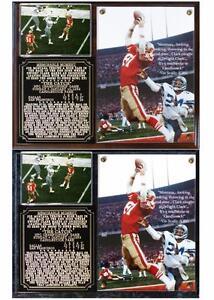 Dwight Clark The Catch Memorable Moment Photo Plaque San Francisco 49ers