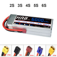 HRB 7.4V 11.1V 14.8V 18.5V 22.2V 6000mAh 50C LiPo Battery for RC Drone Airplane