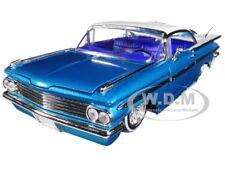 "1959 CHEVROLET IMPALA BLUE ""LOWRIDER SERIES"" STREET LOW 1/24 DIECAST JADA 98923"