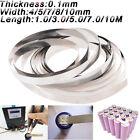 1/3/5/7/10M battery spot welding nickel plate Nickel plated steel strip 4-10mm