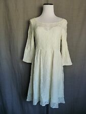 NWOT- Free People Cream Ivory White Lace Sweetheart Bust Skater A-Line Dress- S