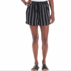 Briggs VARIATION SIZE Ladies' Linen Blend Short Color:Black