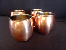 4 Threshold Stainless Steel Copper-Plated 16 Oz Barrel Moscow Mule Drinking Mug