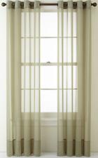 "NEW Liz Claiborne Lisette Grommet Sheer Curtain Panel 50"" x 95"" Evening Sage"