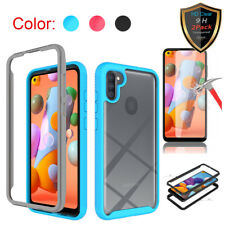 For Samsung Galaxy A21 / A11 Case Shockproof Armor Hybrid Cover+Screen Protector