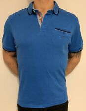 Tommy Hilfiger Polo Shirt XL Blue Mens Cotton Smart Casual T Shirt Golf Tennis