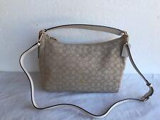 NWT Coach Celeste Convertible Hobo Handbag Purse shoulder Bag F58284 Khaki/Chalk