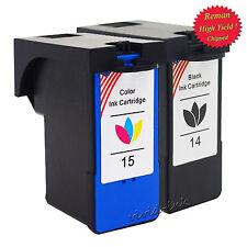 2 PK 14 15 18C2090 18C2110 Ink Cartridge Set for Lexmark X2600 X2650 X2670 Z2300