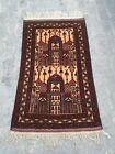 140x84  CM  NICE Vintage Baloch Prayer Rug  Best Prayer Wool Rug Ethnic rug mini