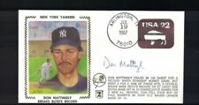 Don Mattingly Auto/Autograph 1987 Breaks Ruth Record Gateway Cachet FDC Cover