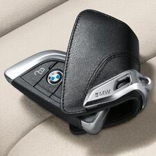 Original BMW F15 F16 F48 G30 G11 Key Cover Case Genuine Leather SCHWARZ
