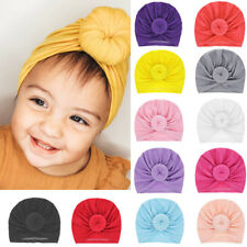 Newborn Baby Infant Knot Turban Cute Stretchy Beanie Hat Cap Hair Head Wrap