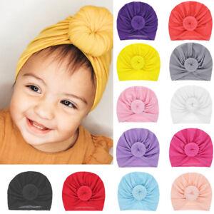 Newborn Baby Infant Knot Turban Cute Stretchy Beanie Hat Cap Hair Head Wrap