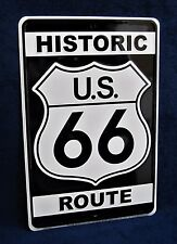 Historic ROUTE 66 - *US MADE* Embossed Sign - Man Cave Garage Bar Pub Wall Decor