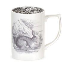 Spode Delamere Rural Rabbit Tea & Coffee Mug *BRAND NEW* Ivory & Charcoal