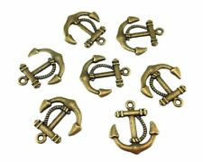 50pc Raw Brass Nautical Whale Tail Charms 4278