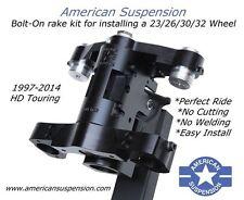 "2008-Earlier Harley Davidson Neck Rake Kit Bolt On 30"" Wheel American Suspension"