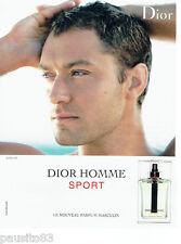 PUBLICITE ADVERTISING 046  2008  Dior  parfum homme SPORT & Jude Law