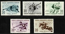 Turkey 1960 17th Olympic Games In Rome Complete Set Of Five Stamps - MUH