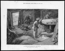 1879 - Antique Print AFGHANISTAN Mill Gundamuck Simpson Millstones Pots (81)