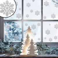 Christmas Glitter Silver Snowflake Window Sticker Snow Flake Xmas Festival Decor