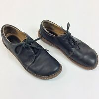 Browns Landing Womens Lace Up Black Leather Oxford Shoes Size 9M