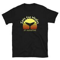St. Augustine Save Whales Retro Sun Vintage Marine Biologist Gift Unisex T-Shirt