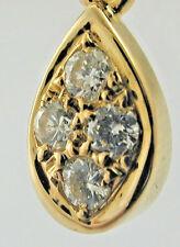 Diamond tear drop cluster dangly earrings studs 18 yellow gold 0.50ct 3.6 grams