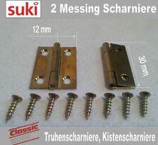 Möbelscharnier, Truhenscharniere, Kistenscharniere, Messing, 30mm x 12 mm