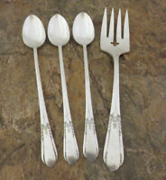 Oneida Happiness Iced Tea Spoons Fork Wm A Rogers Vintage Silverplate Flatware B