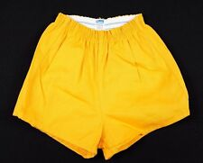 Vtg 1970s Champion Gym Shorts Small gold/yellow PE sports cotton