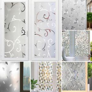 3D Window Films Anti UV Blackout Privacy PVC Glass Stickers Bathroom Home Decor
