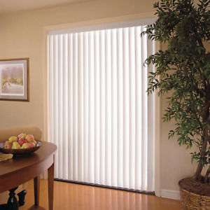 """Vertical Blinds 78"""" x 84"""" PVC Light Filtering Wide Window Treatment White"""