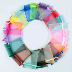 Organza Wedding Xmas Party Favor Gift Candy Bags Jewellery Packing Pouch 10X15CM