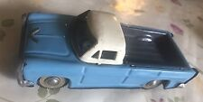 Vintage Pressed Steel Toy Pickup Friction Car Truck Chevy Chevrolet Light Bleu