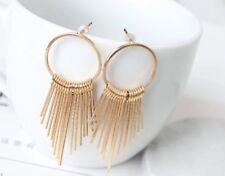 Tassel Earrings Gold Toned 2 inch Drop Dangle