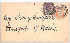 Bn190 1901 Gb Qv Jubilee / Penny Pink Franking *London* Cds Stationery Cover