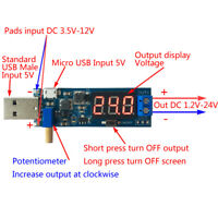 DC-DC USB Step UP/Down Power Supply Module Boost Buck Converter 5V to 1.2V-24V
