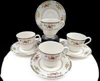 "ROYAL DOULTON #TC115 KINGSWOOD FLOWERS & LAUREL FOUR 2 7/8"" CUPS AND SAUCERS"