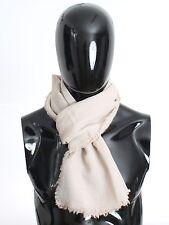 NWT $580 DOLCE & GABBANA Scarf Men's Beige 100% Cashmere Wrap Logo Necktie
