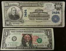 1902 WHITE RIVER JUNCTION, VT $10 Plain Back VERMONT National Bank Note Currency